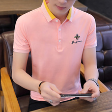 Summer trendy men's shirt collar POLO shirt new style with collar short sleeve T-shirt men's Lapel half sleeve shirt XH