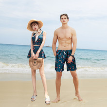 Lovers'swimsuits, women's beach suits, men's seaside honeymoon swimsuits, conservative couples' hot spring swimsuits