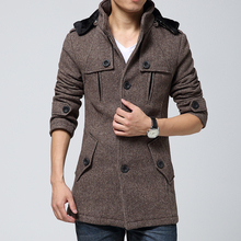Men's Wear Thickened Slim Wool Nepal Overcoat Men's Long-style Overcoat Series Wool Overcoat Winter Overcoat