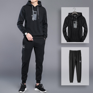套装男士春秋装运动服两件套青少年韩版休闲装中学生<span class=H>卫衣</span>男运动装