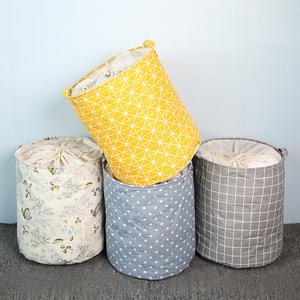 棉麻<span class=H>收纳桶</span>北欧大号布艺篓洗衣篮家用杂物篮子收纳筐脏衣桶装衣服