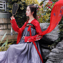 Modified Chinese Dress Female Chinese Style Chest-length Skirt Ancient Style Student's Daily Hanfu Summer Fairy Cherry Blossom Super Fairy