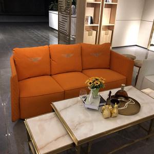 轻奢后现代<span class=H>沙发</span> 意大利高端样板房别墅家具 免洗科技布宾利定制