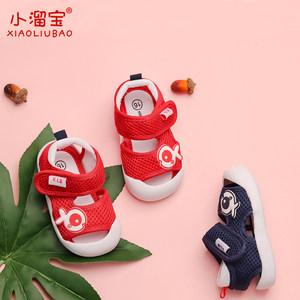夏季0-1-3岁2宝宝织布鞋子凉鞋男女婴儿包头防滑软底小溜宝学步鞋