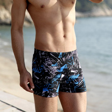 Swimming trunks men's flat-angle large size conservative embarrassment-proof men's swimming trunks quick-drying adult swimsuit diving equipment