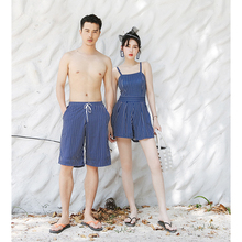 Big fishing swimsuit Simple and fresh conservative cover belly slim skirt type conjoined couple swimwear female male beach pants