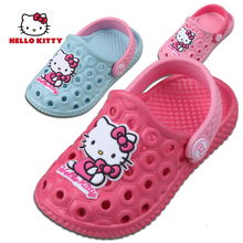 Hello Kitty Children's Slippers Summer Girls'Baby Slippers Cartoon Beach Shoes Children's Hole Shoes