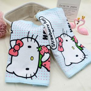 亚光<span class=H>毛巾</span> hello kitty 草莓之恋女款可爱卡通面巾纯棉吸水 手巾