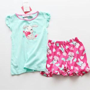 童装夏装短袖短裤套装儿童夏季薄款女孩纯棉针织睡衣宝宝<span class=H>家居服</span>