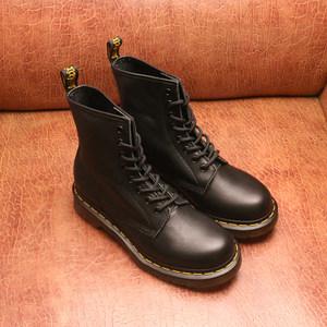 正品Dr. <span class=H>马丁靴</span>男女鞋 厚底马丁鞋牛皮经典8孔英伦高帮<span class=H>马丁靴</span>1460