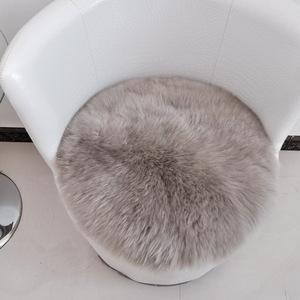 澳洲纯羊毛<span class=H>坐垫</span>圆形椅垫圆凳子垫加厚餐椅垫时尚<span class=H>坐垫</span>防滑圆毯定做