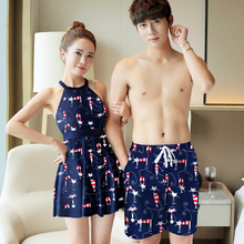 Lovers'Swimming Suit 2018 New Swimming Suit Seaside Holiday Spa Men's Beach Trousers Conservative Connected Swimming Suit