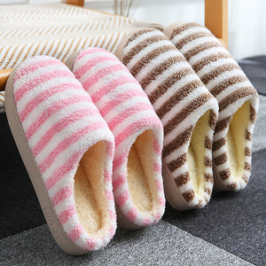 棉拖鞋女士家用秋冬季居家居保暖防滑厚底月子情侣男室内毛绒冬天