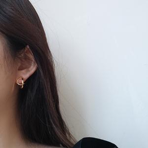 【SUGAR】极简韩国气质简约925<span class=H>银针</span>镂空法式耳环设计感耳钉女小众
