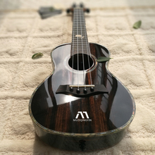 Black Plug-in Bright Ukrainian 23 Male Beginners Girls Electric Box Ukrainian Little Guitar 26-inch engraving