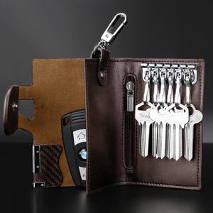 韩版大容量钥匙包男女士商务汽车锁匙包腰挂多功能零<span class=H>钱包</span>卡包
