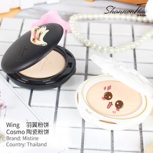 泰国mistine陶瓷羽翼<span class=H>粉饼</span>干粉定妆遮瑕美白持久控油粉底防水正品