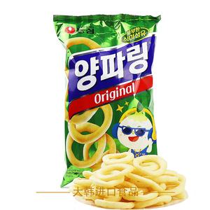 韩国原装进口农心原味洋葱卷圈大包装84g 进口膨化零食品休闲小吃