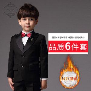 EYAS儿童套装花童礼服新款男童小西装黑色钢琴<span class=H>演出服</span>修身韩版<span class=H>西服</span>