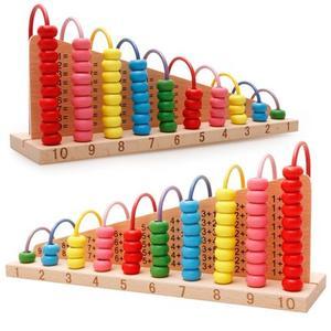 木丸子加减算数运算架数字算术盘榉木学习<span class=H>计算架</span>彩虹<span class=H>绕珠</span>益智玩具