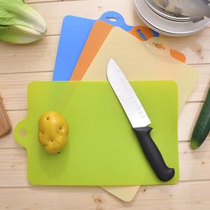 悬挂式家用塑料切<span class=H>菜板</span>耐用塑料多彩水果砧板多功能厨房切<span class=H>菜板</span>