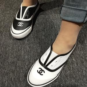 简约款小单鞋皮面<span class=H>女鞋</span>时尚百搭平底款鞋2018秋季新款懒人鞋潮鞋