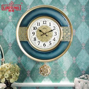 麗盛美式<span class=H>掛鐘</span>客廳大氣歐式石英鐘表輕奢時鐘臥室掛表裝飾個性擺鐘