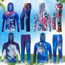 Fishing Suit Summer Men's Icefish Fishing Clothing Customized Printing of Quick-drying, Air-permeable Outdoor Sunscreen Suit