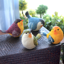 Creative outdoor garden gardening garden balcony home furnishings wine cabinet decoration resin simulation bird ornaments
