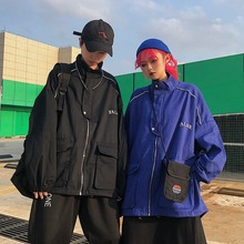 Spring Korean version of INS Street Inhabitation Stitching Embroidered Couple Class Jacket Baseball Coat