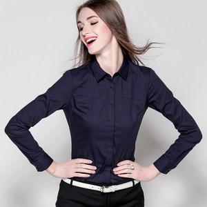 2017新款韩版白衬衫长袖秋季女装职业装宽松<span class=H>上衣</span>打底衫ol衬衣大码
