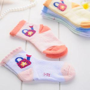 旭威婴幼儿宝宝袜 儿童夏季<span class=H>袜子</span>无骨缝合 婴儿宽口不勒脚袜1-3岁