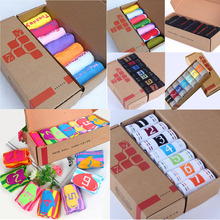 7-day socks a box of students cotton socks in the tube week men and women socks men's sports seven-day socks ladies number