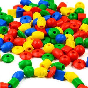 幼儿园儿童亲子玩具智力桌面百变实心几何<span class=H>串珠</span>穿绳线塑料益智<span class=H>积木</span>