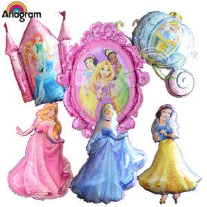 白雪公主气球 索菲亚生日派对美人鱼灰姑娘皇冠美国anagram铝膜
