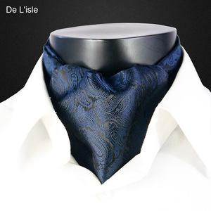 De Lisle <span class=H>男</span>士领巾 英伦长款小方巾西装衬衫<span class=H>围巾</span>百搭 韩版丝巾潮