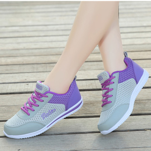 春夏季青年女士运动鞋减震系带<span class=H>跑步鞋</span>网透气轻便舒适百搭女装鞋子