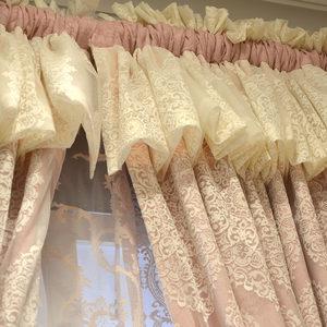 保罗纳奢华浪漫北欧ins美式韩式粉红色公主房遮光卧室<span class=H>窗帘</span>窗纱