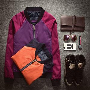 DIY定制团队班服工服印LOGO男女明星同款夹克<span class=H>棒球服</span>跑男情侣外套