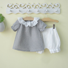 0-1-2-3 year-old baby girl summer dress two-piece suit thin Korean fashion fashion fashion clothes summer 4