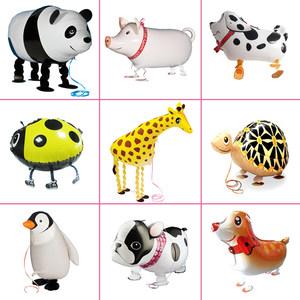 儿童生日派对装饰布置用品宝宝玩具卡通<span class=H>铝膜</span>宠物铝箔<span class=H>气球</span>走路动物