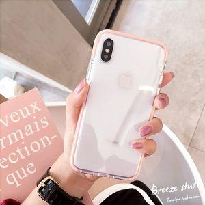 <span class=H>苹果</span>x<span class=H>手机壳</span>边框透明8plus软壳iphone6s硅胶全包7p男女款粉色白色