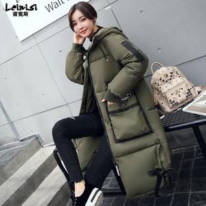 [送60元天猫券]反季棉服女2017冬季新款韩版加厚宽松过膝大码中长款棉衣