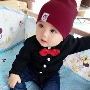宝宝0-3个月纯棉套头帽6新生婴儿12儿童春秋薄款<span class=H>帽子</span>1岁2女童胎帽