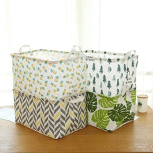 Extra large toy storage box cotton and linen storage box fabric storage box snacks book debris basket home clothing basket