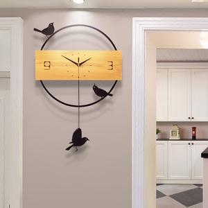 领40元券购买钟表挂钟客厅创意现代简约北欧石英钟大气静音个性家用时尚时钟