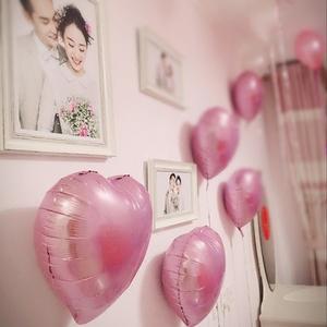结婚庆用品情人节表白生日派对婚房布置装饰创意铝箔<span class=H>大号</span>心形<span class=H>气球</span>
