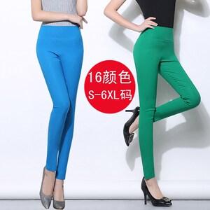 加长<span class=H>打底</span>裤<span class=H>女</span>外穿夏季糖果色<span class=H>长裤</span>薄款高腰加肥加大码<span class=H>女</span>裤子紧身裤