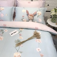 American Rural Lady Princess Fashionable Fresh Small Fragmented Cotton Four-piece Cotton 1.5/1.8m Bedding