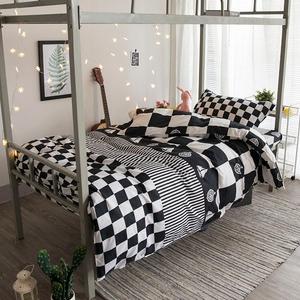 学生宿舍单人上下铺1.2三件套网红<span class=H>床上</span>用品四件套舒适2.0床单被套